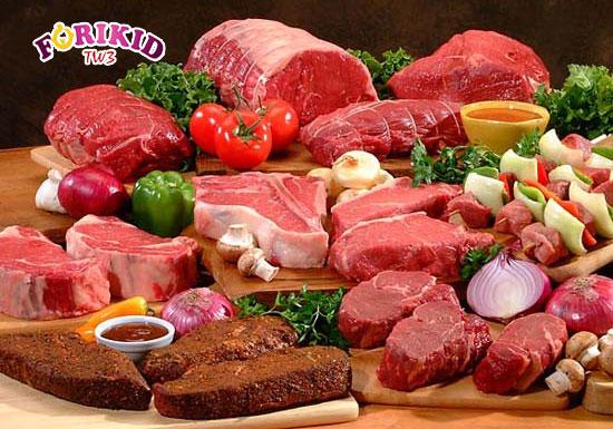 Các loại thịt đỏ là nguồn bổ sung sắt tuyệt hảo cho cơ thể của trẻ