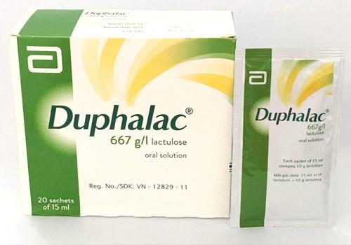 Thuốc trị táo bón cho trẻ Duphalac với tác dụng làm mềm phân