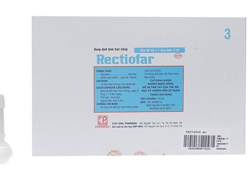 Rectiofar là thuốc trị táo bón bằng cách bơm thẳng vào trực tràng.