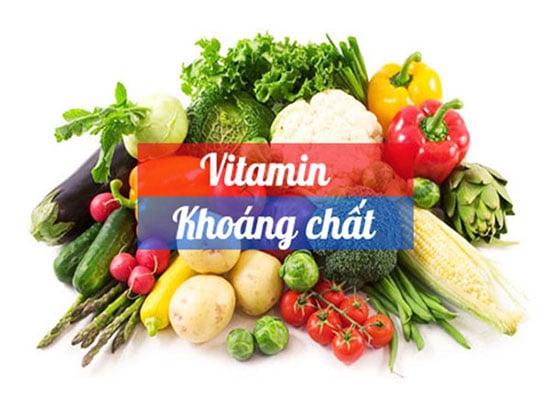 Thực đơn cho bé cần bổ sung đầy đủ các loại vitamin và khoáng chất