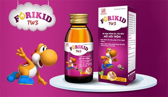 Forikid TW3 là sản phẩm hỗ trợ cải thiện sức khỏe, cải thiện tiêu hóa giúp bé tăng cân nhanh chóng