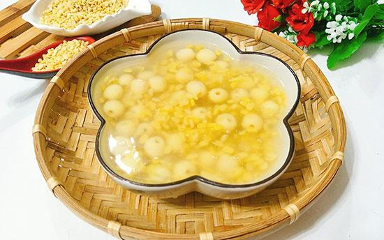Chè hạt sen đậu xanh giúp điều hòa đường tiểu