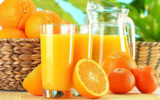 Nước ép cam - Loại thức uống kích thích tiêu hóa