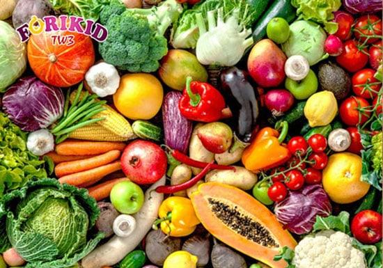 Các loại rau củ cung cấp các loại vitamin và chất xơ cao hỗ trợ trị biếng ăn ở trẻ