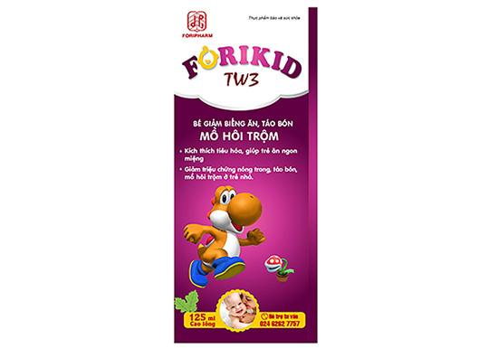 Forikid TW3 là sản phẩm kích thích tiêu hóa và điều trị táo bón ở trẻ vô cùng hiệu quả