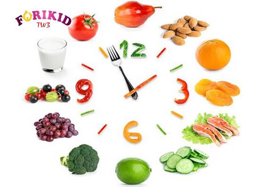 Việc ăn đúng giờ không chỉ tốt cho sự tiêu hóa và hấp thu còn tốt cho sự phát triển của trẻ