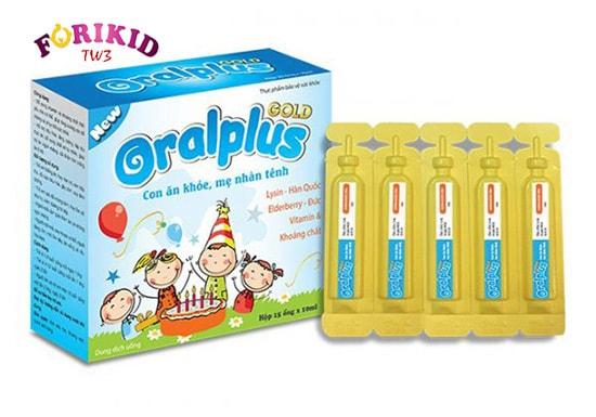 Oralplus Gold giúp tăng cường sức đề kháng cho trẻ từ đó phát triển tốt hơn